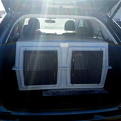 Deuce Kennel loaded into a 2017 Ford Edge