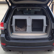 Easy Loader dog kennel in an SUV